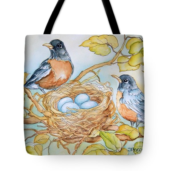 Robins Nest Tote Bag by Inese Poga