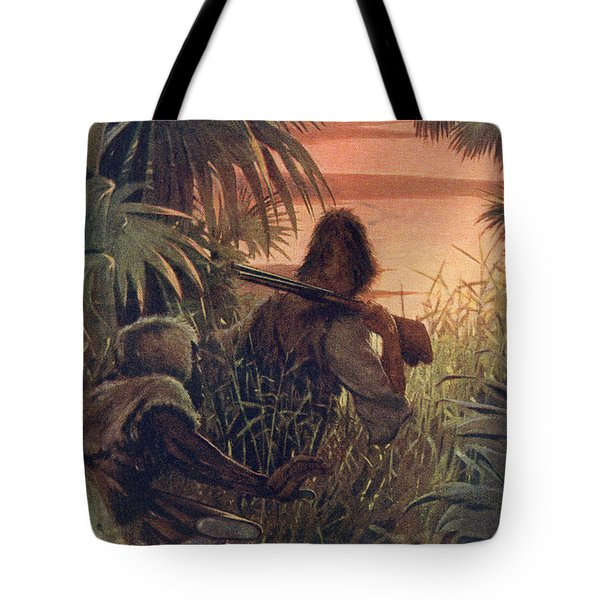Robinson Crusoe And Man Friday In The Tote Bag