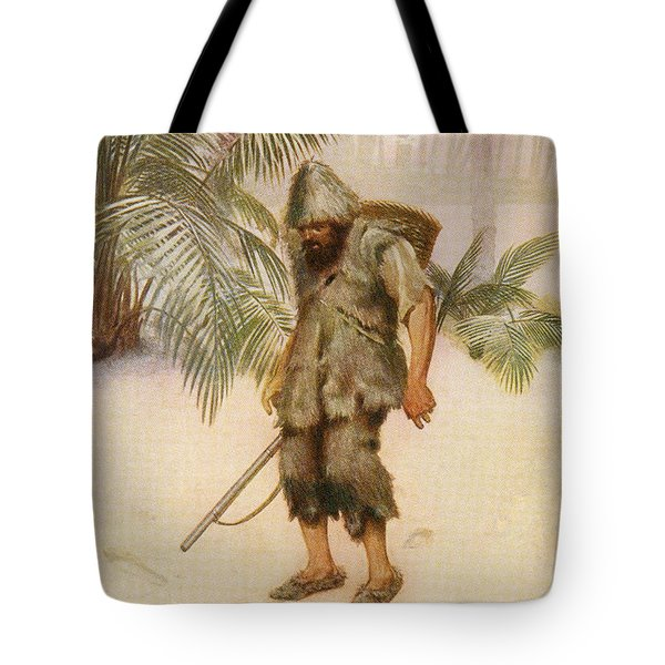 Robinson Crusoe Sees A Footprint In The Tote Bag
