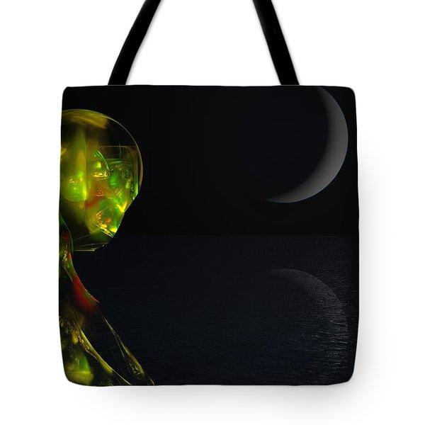 Robot Moonlight Serenade Tote Bag by David Lane