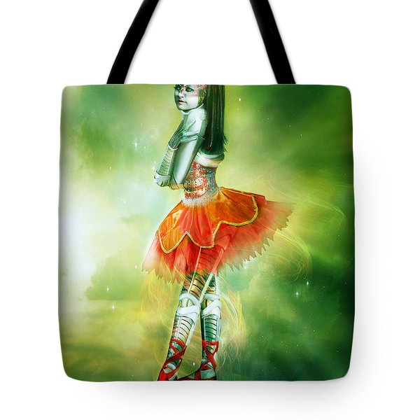 Robots Can Dream Too Tote Bag by Mary Hood