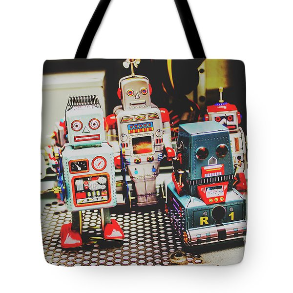 Robots Of Retro Cool Tote Bag
