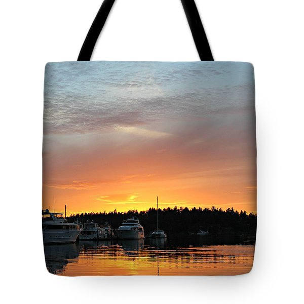 Roche Harbor Sunset Tote Bag