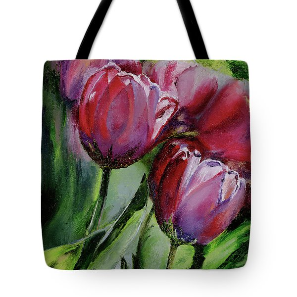 Rochelle's Springtime Tulips Tote Bag
