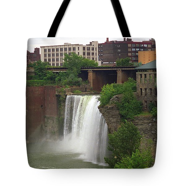 Tote Bag featuring the photograph Rochester, New York - High Falls 2 by Frank Romeo