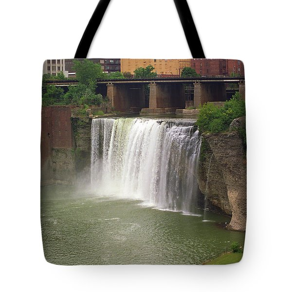 Tote Bag featuring the photograph Rochester, New York - High Falls by Frank Romeo