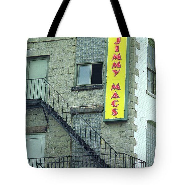 Tote Bag featuring the photograph Rochester, New York - Jimmy Mac's Bar 2 by Frank Romeo