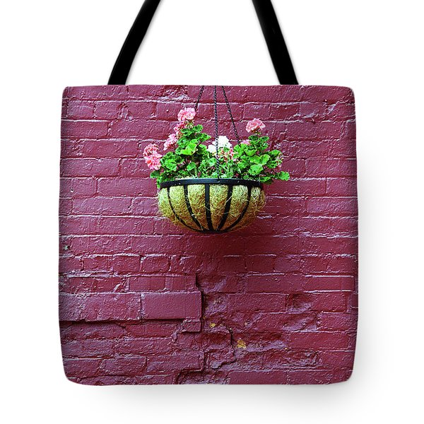 Tote Bag featuring the photograph Rochester, New York - Purple Wall by Frank Romeo