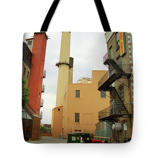 Rochester, Ny - Behind The Bar And Factory 2005 Tote Bag by Frank Romeo