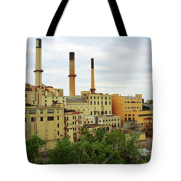 Rochester, Ny - Factory And Smokestacks 2005 Tote Bag by Frank Romeo