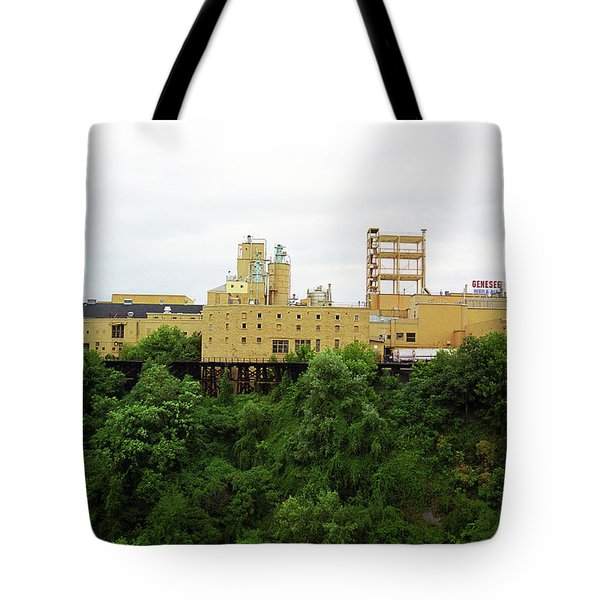 Tote Bag featuring the photograph Rochester, Ny - Factory On A Hill by Frank Romeo