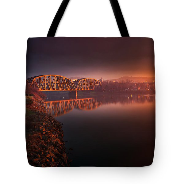 Rochester Train Bridge  Tote Bag
