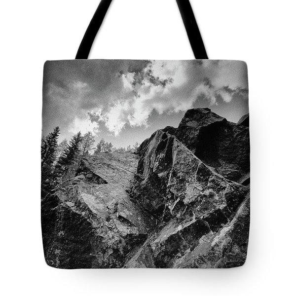 Rock #9542 Bw Version Tote Bag