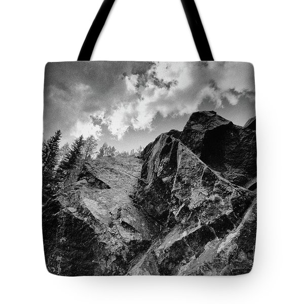 Rock #9542 Bw Version Tote Bag