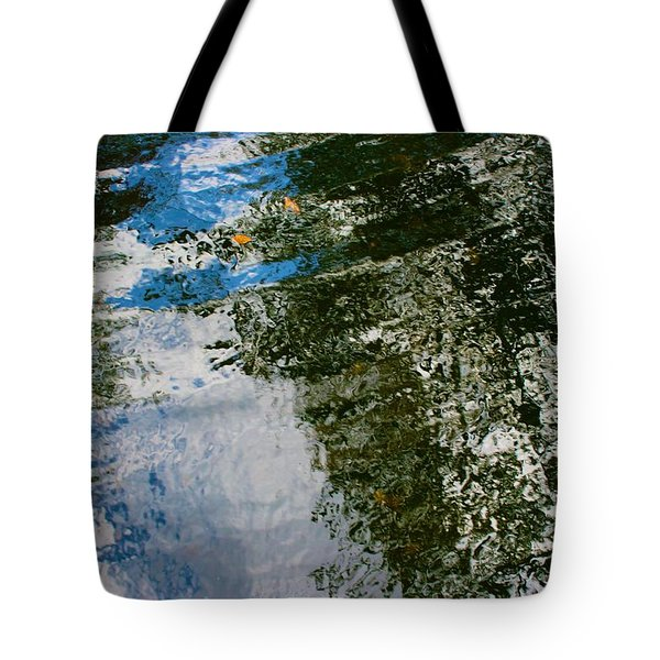 Rock And Sky Reflection Tote Bag
