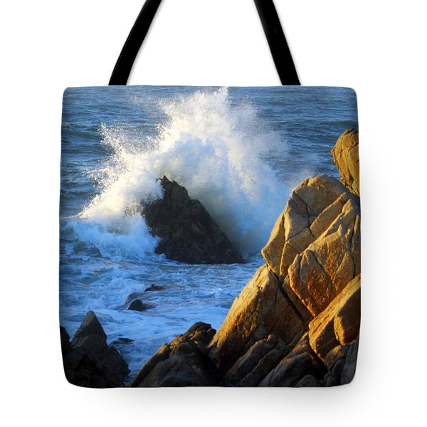 Rock And Wave Tote Bag by Catherine Lau