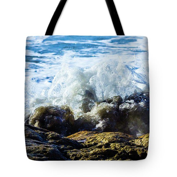 Wave Meets Rock Tote Bag