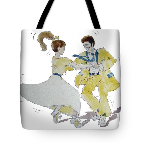Rock Around The Clock Tote Bag