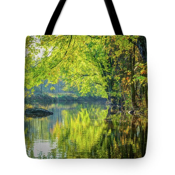 Rock At Sunrise Tote Bag