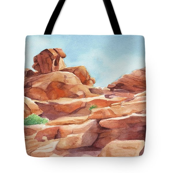 Rock Away Tote Bag by Sandy Fisher
