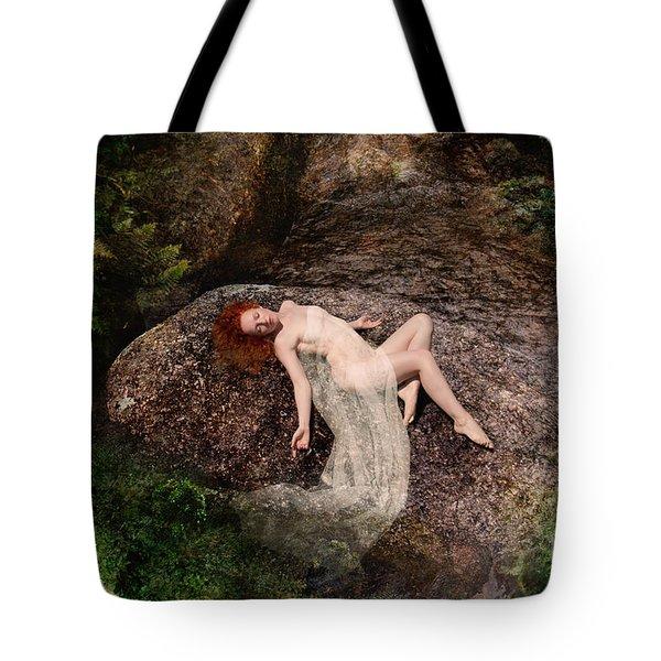 Rock Bathing Tote Bag