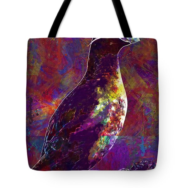 Rock Bird Auklet Crested Birds  Tote Bag
