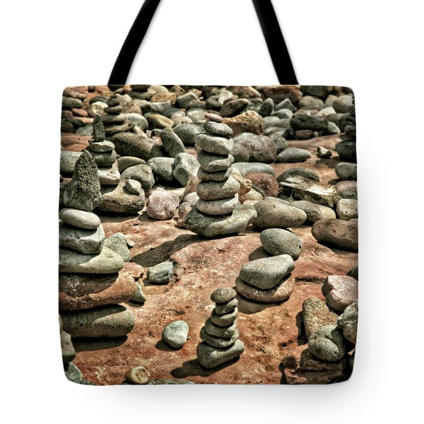 Rock Cairns At Buddha Beach - Sedona Tote Bag