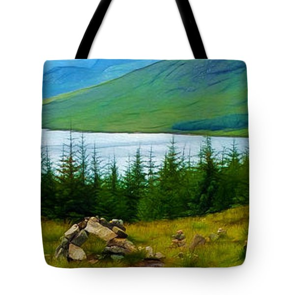 Rock Cairns In Scotland Tote Bag