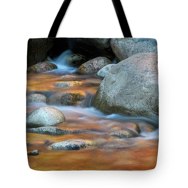 Tote Bag featuring the photograph Rock Cave Reflection Nh by Michael Hubley