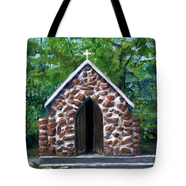 Rock Chapel Desoto Parish, Louisiana Tote Bag by Lenora De Lude