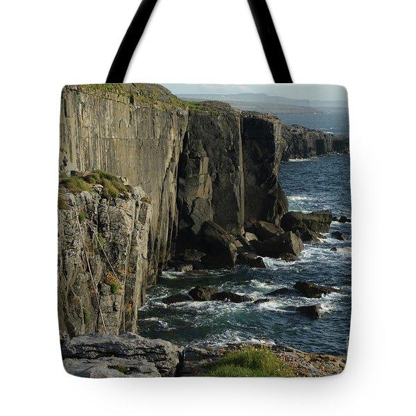 Rock Climbing Burren Tote Bag