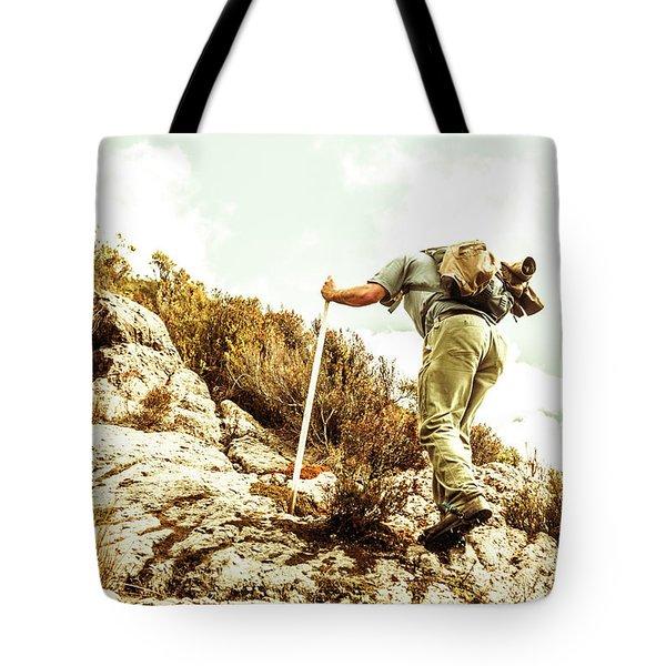 Rock Climbing Mountaineer Tote Bag