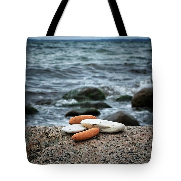 Tote Bag featuring the photograph Rock Collection by Karen Stahlros