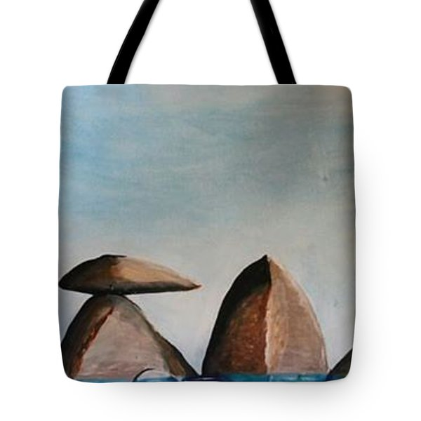 Rock Composition #1 Tote Bag by Carol Duarte