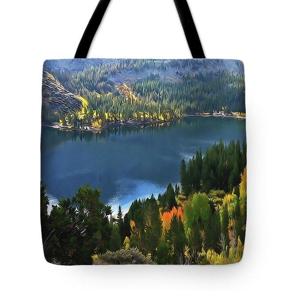 Rock Creek Lake In Fall Tote Bag