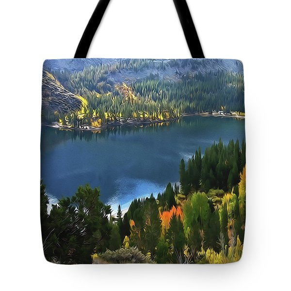 Rock Creek Lake In Fall Tote Bag