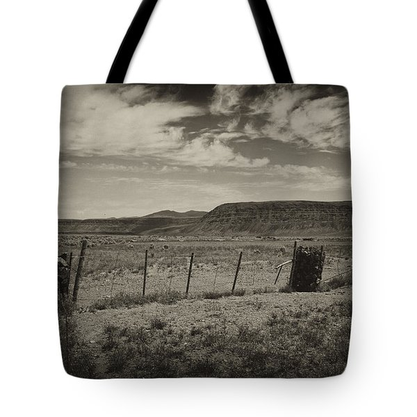 Tote Bag featuring the photograph Rock Cribs And Fenceline by Hugh Smith