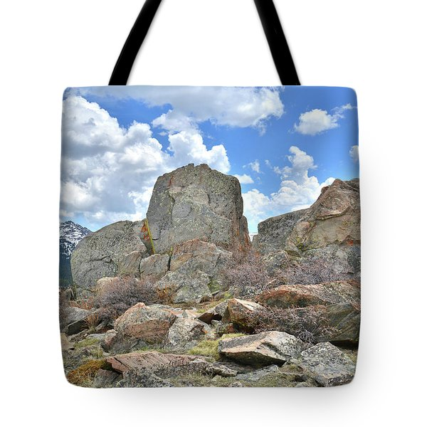 Rock Cropping At Big Horn Pass Tote Bag
