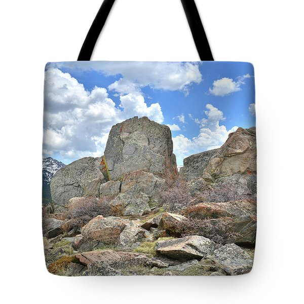 Rock Cropping At Big Horn Pass Tote Bag