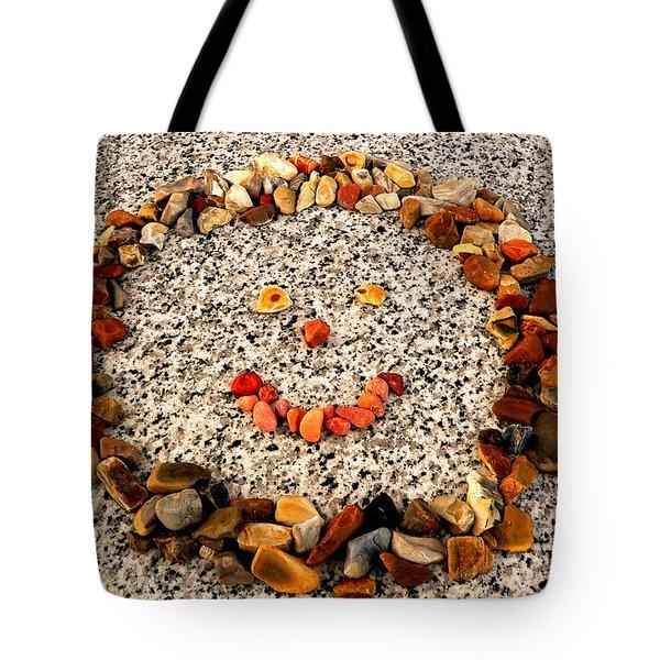 Rock Face On Granite Tote Bag