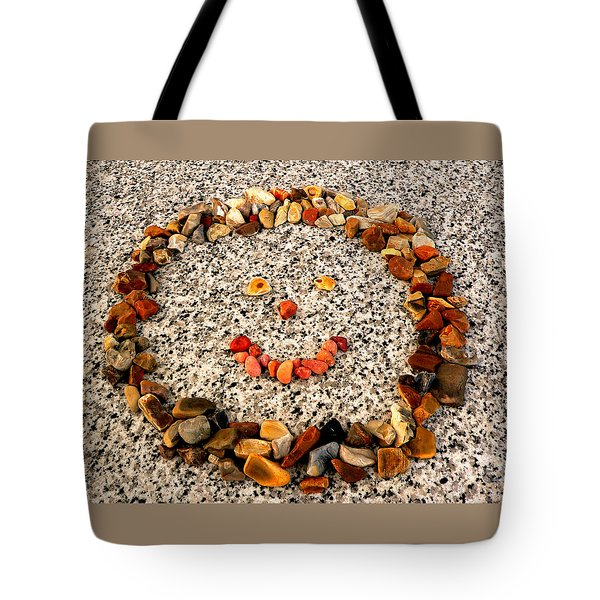 Rock Face On Granite Tote Bag