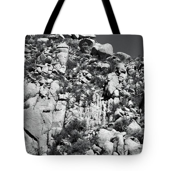Rock Face Sandia Mountain Tote Bag