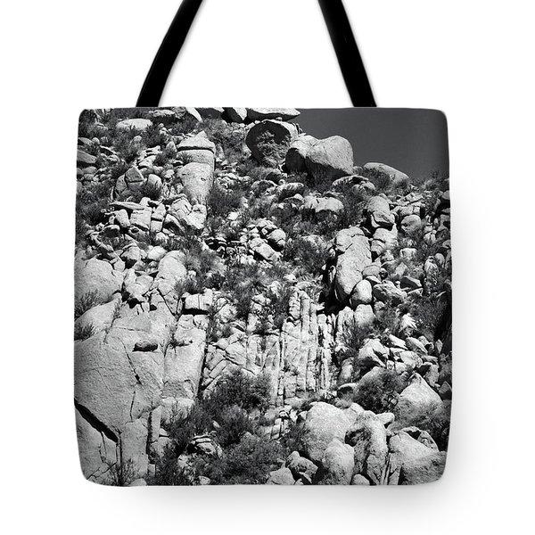 Rock Face Sandia Mountain Tote Bag
