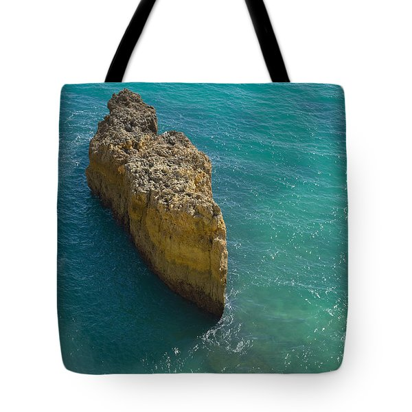 Rock Formation And The Sea In Algarve Tote Bag by Angelo DeVal