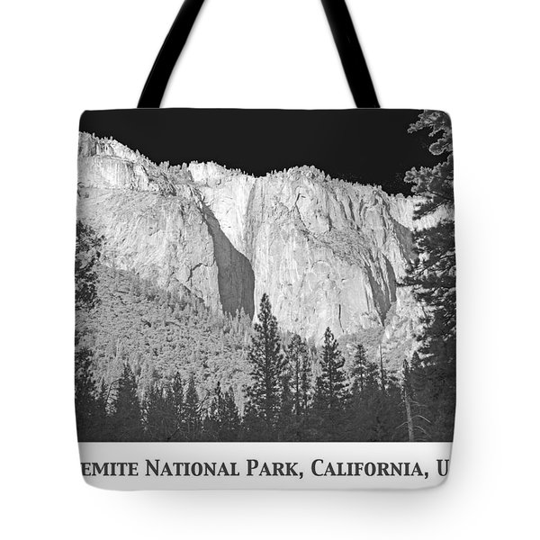 Tote Bag featuring the photograph Rock Formation Yosemite National Park California by A Gurmankin