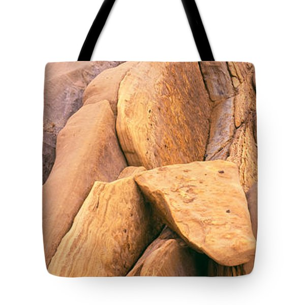 Rock Formations At The Coast, Montana Tote Bag