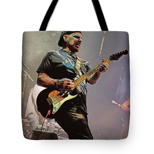 Rock Guitar Player Tote Bag