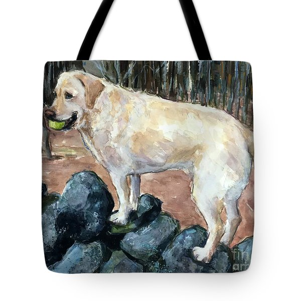Rock Hopper Tote Bag by Molly Poole