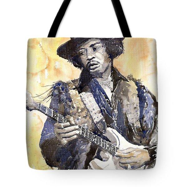 Rock Jimi Hendrix 01 Tote Bag by Yuriy  Shevchuk
