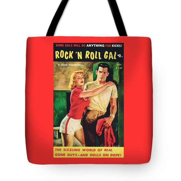 Tote Bag featuring the painting Rock 'n Roll Gal by Owen Kampen